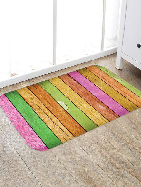 3D Wooden Printed Floor Rug - multicolor C W20 X L31.5 INCH