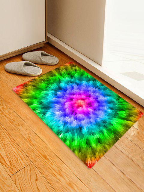 3D Abstract Printed Floor Rug - YELLOW GREEN W16 X L24 INCH