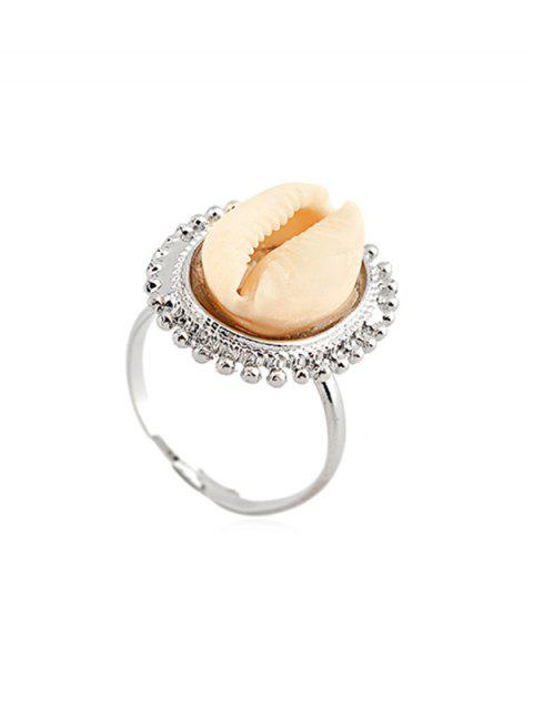 Alloy Sea Shell Cuff Ring - SILVER