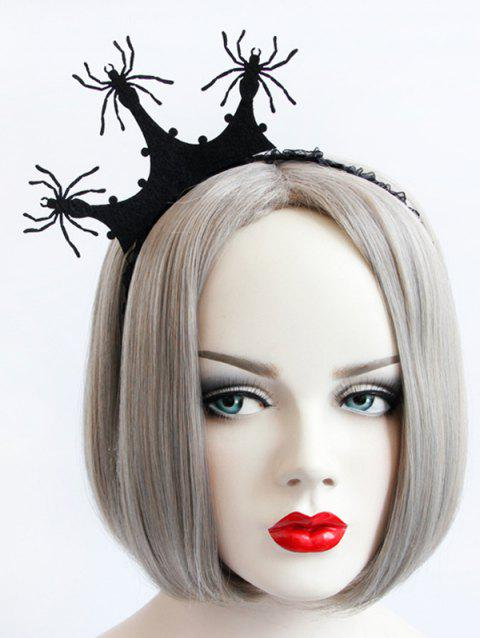 Spider Crown Halloween Gothic Party Exhibition Cos Accessory Hairband - BLACK