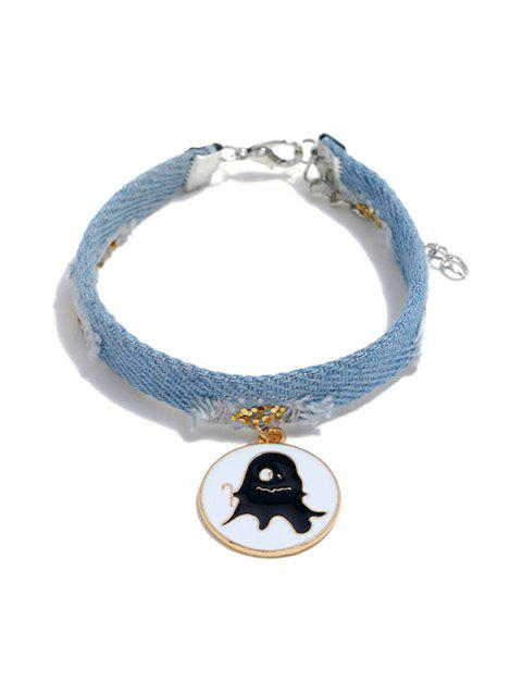 Denim Cowboy Ghost Pendentif Bracelet - multicolor D