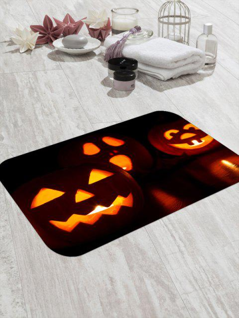 Halloween Pumpkin Lamp 3D Print Floor Mat - HALLOWEEN ORANGE W20 X L31.5 INCH