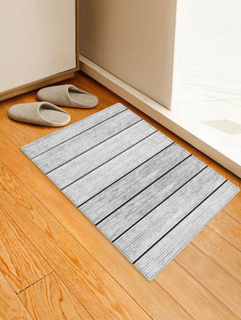 Vintage 3D Print Wood Grain Floor Rug - COOL WHITE W16 X L24 INCH