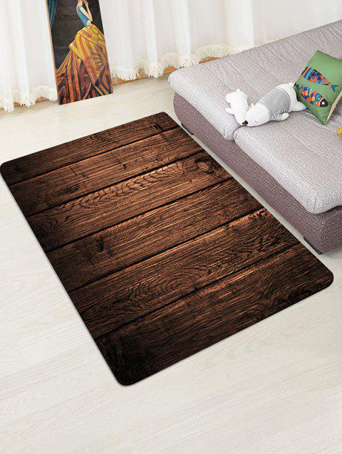 Wood Plank 3D Print Floor Rug - DEEP BROWN W47 X L63 INCH