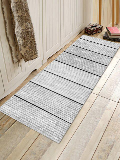 Vintage 3D Print Wood Grain Floor Rug - COOL WHITE W16 X L47 INCH