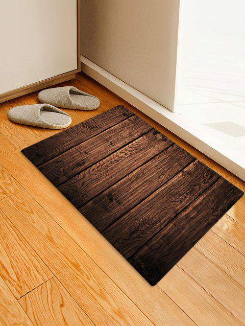 Wood Plank 3D Print Floor Rug - DEEP BROWN W24 X L35.5 INCH