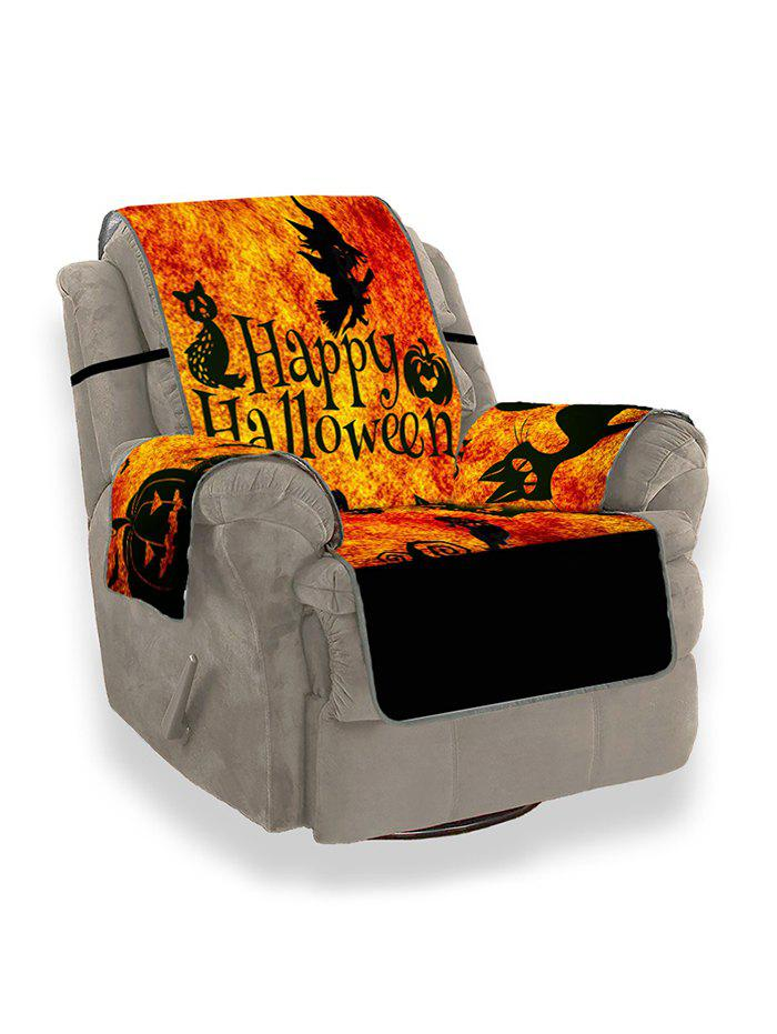 Halloween Pumpkin Witch Ghost Design Couch Cover - multicolor SINGLE SEAT