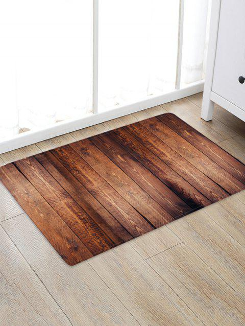 Wood Planks 3D Printed Floor Rug - SEPIA W16 X L24 INCH