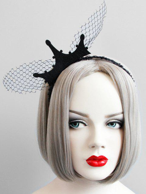 Halloween Crown Lace Hairband - BLACK