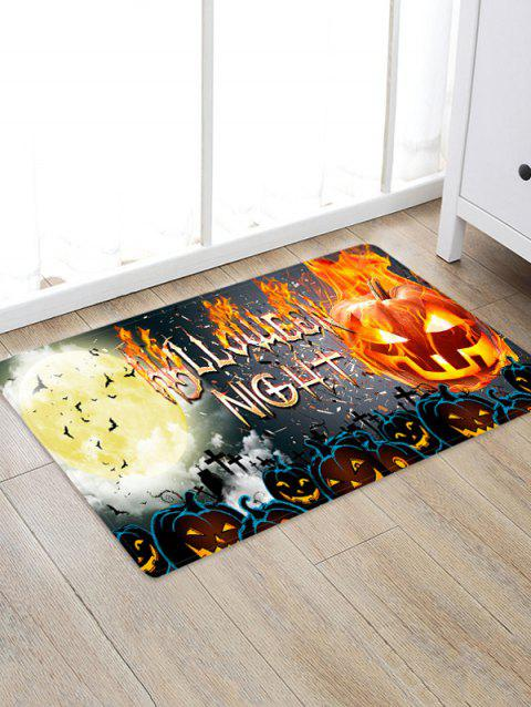 Halloween Pumpkin Letter Bat Floor Rug - ORANGE GOLD W16 X L24 INCH