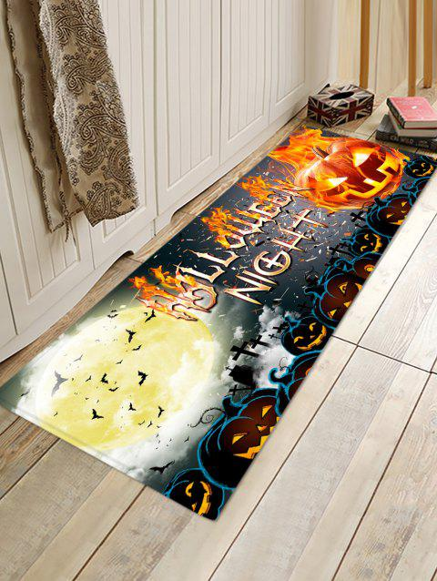 Halloween Pumpkin Letter Bat Floor Rug - ORANGE GOLD W16 X L47 INCH