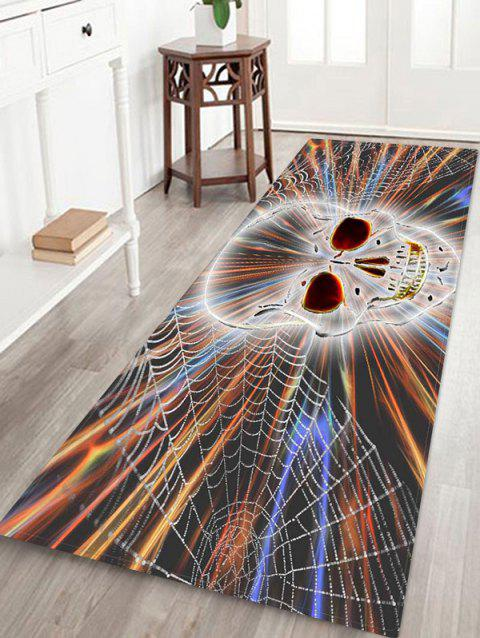 Halloween Skull Water-absorbing Non-Slip Quick Dry Floor Pad Rug - multicolor E W16 X L47 INCH