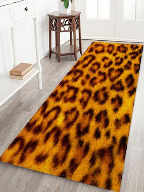 Leopard Print Flannel Anti-slip Floor Rug - multicolor A W24 X L71 INCH