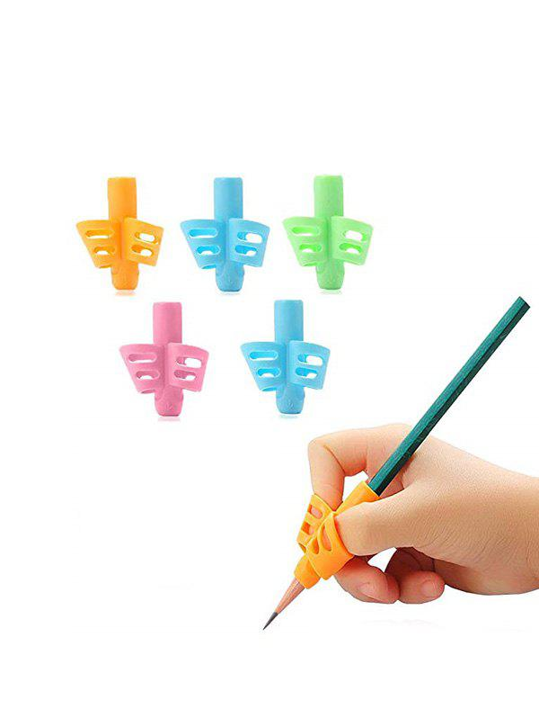 Silicone Two Fingers Writing Posture Holding Pen Braces - multicolor