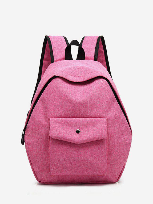 Retro Oxford Cloth Backpack - ROSE RED