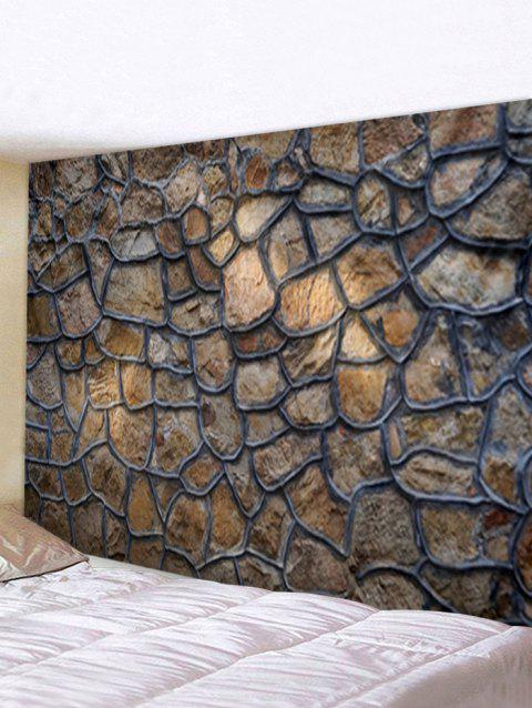 Stone Wall Printed Tapestry Wall Hanging Art Decoration - multicolor W91 X L71 INCH