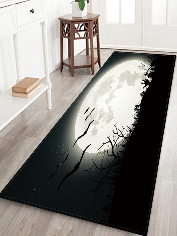Halloween Bat Night Pattern Decor Rug, Dark slate grey