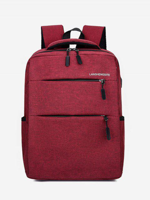 Casual Canvas Large Capacity Computer Bag - RED