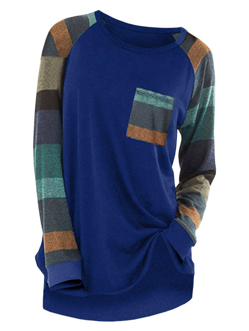 Striped Raglan Sleev