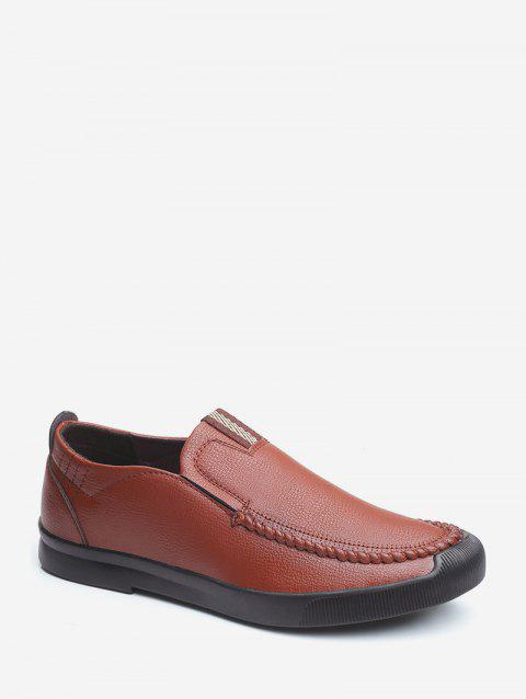 Solid Color Round Toe Casual Shoes - BROWN EU 40