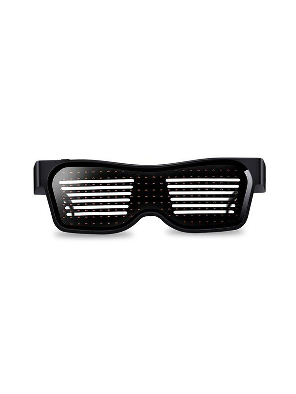 Bluetooth App Control LED Light Glasses for Parties - WHITE
