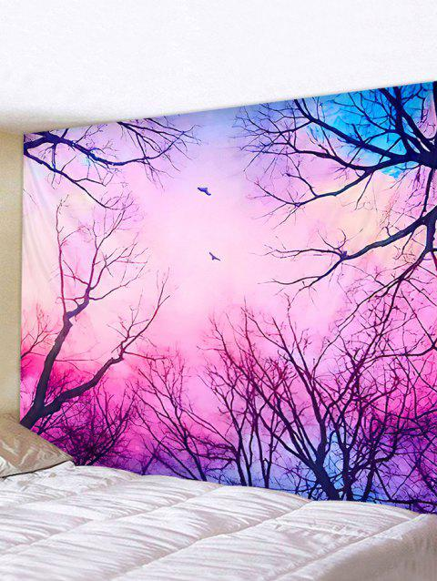 Dreamy Forest Printed Pattern Tapestry - multicolor W79 X L59 INCH