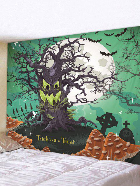 Halloween Trick Tree Printed Pattern Tapestry - multicolor A 200*150CM
