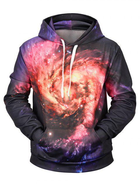 Sweat à capuche à manches longues Galaxy Vortex - Nébuleuse XL