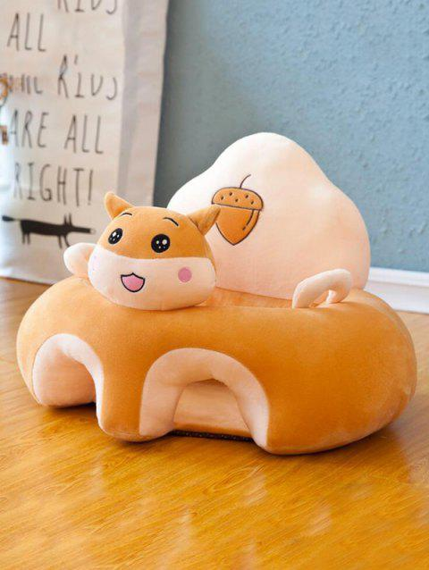 Cartoon Animal Shape Infant Sitting Posture Baby Learning Seat Couch Chair - TAN