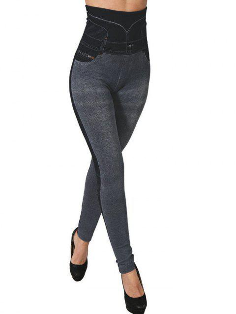Jegging maigre à taille haute - Gris ONE SIZE