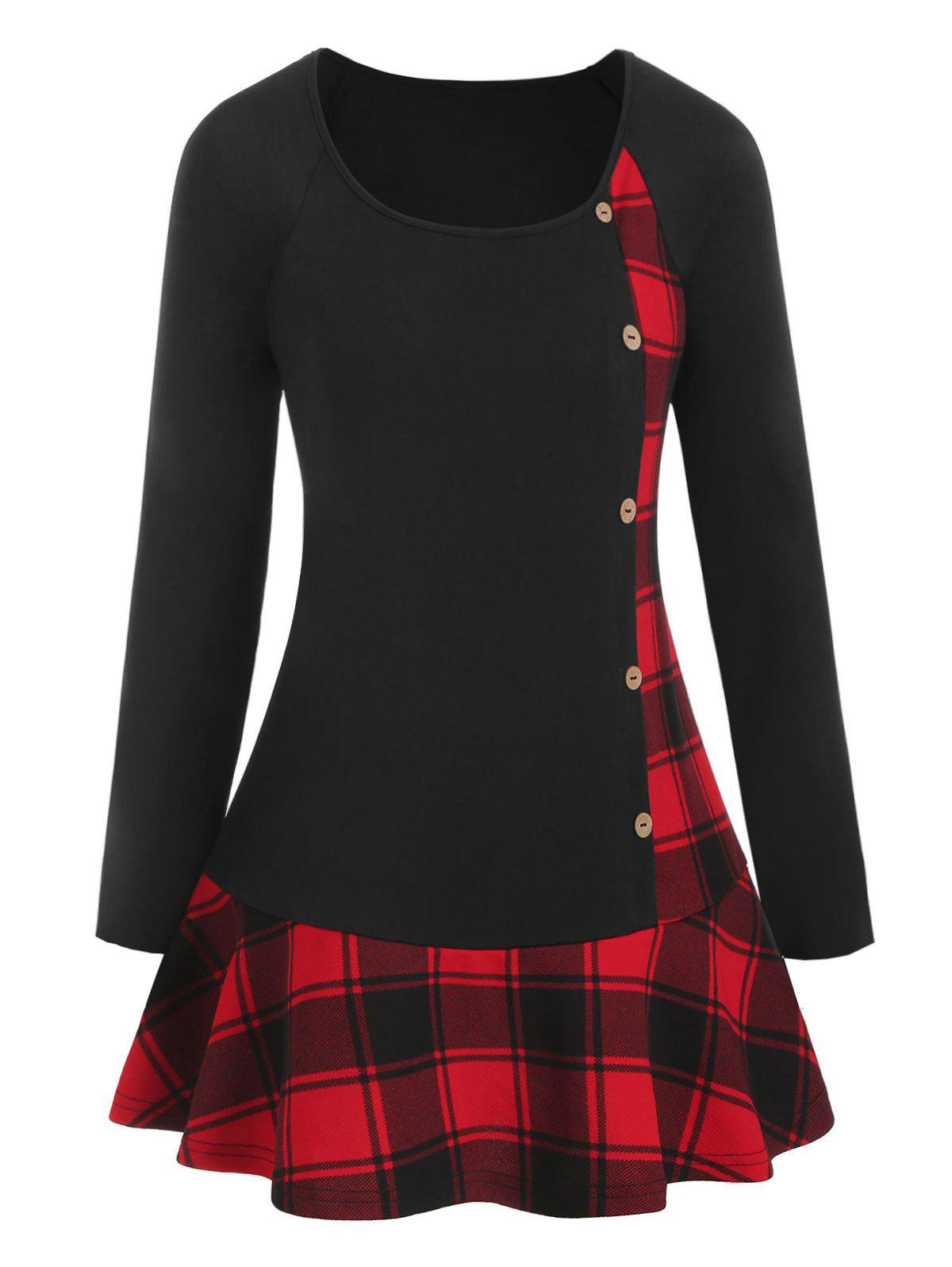 Plus Size Plaid 3D G