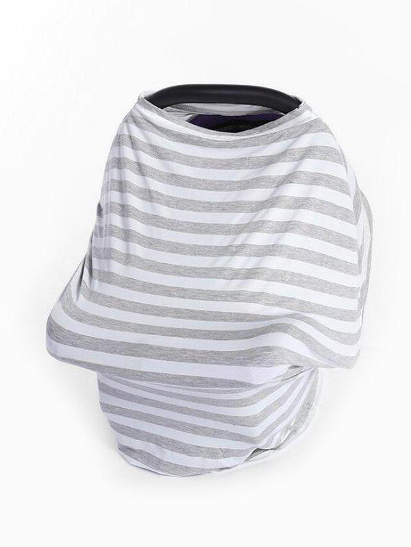 Multi-purpose Striped Print Baby Stroller Windshield Cloth Cover - GRAY