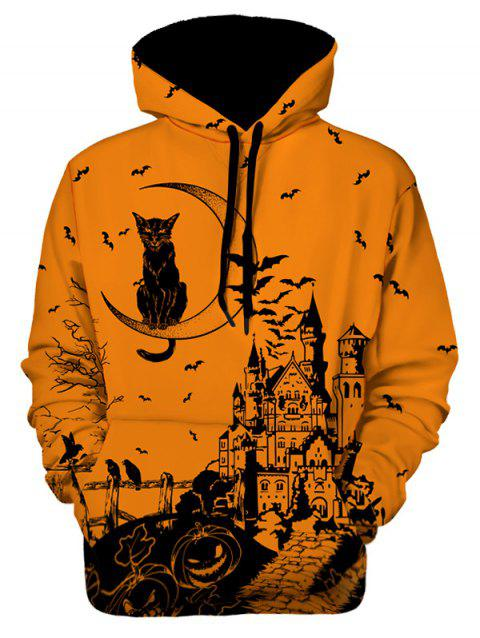 Sweat à capuche Halloween imprimé graphique - multicolor 2XL
