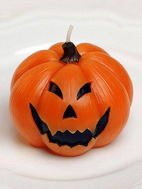 1PC Halloween Home Decoration Pumpkin Candle - multicolor A STYLE 1