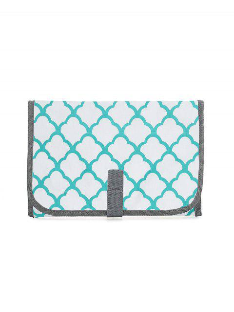 Patterned Portable Travel Segregate Waterproof Baby Urine Mat - MACAW BLUE GREEN