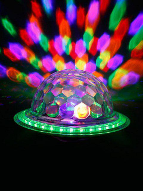 2 In 1 Bluetooth Speaker Colorful LED Rotating Ball Light Bulb with Remote Control for Party - MILK WHITE