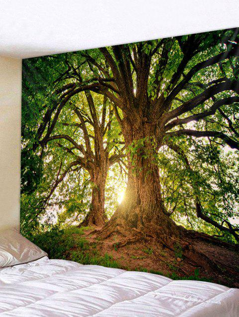 Big Tree 3D Printed Wall Tapestry - MEDIUM FOREST GREEN W59 X L59 INCH