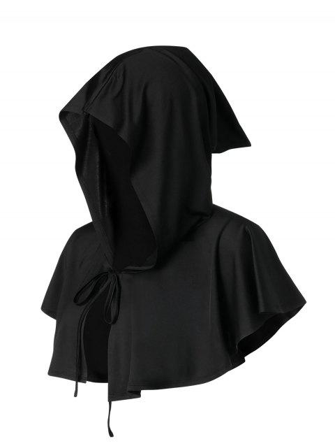 Halloween Bowknot Hooded Mini Cape - BLACK XL