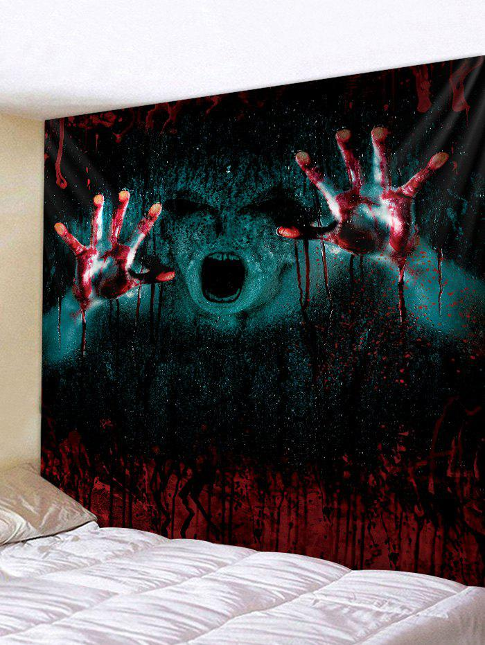 Gothic Halloween 3D Print Art Decoration Wall Tapestry - RED WINE W59 X L59 INCH