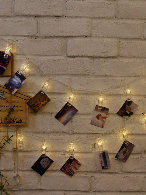 5 Meters DIY Photo Clip LED String Lights - WARM WHITE