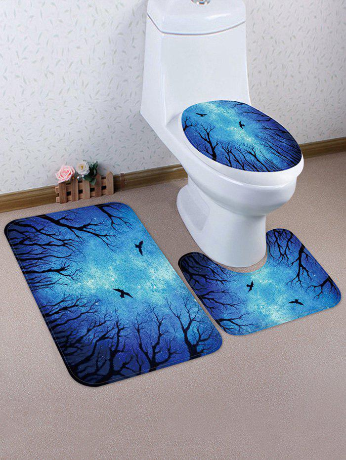 Halloween Night 3 Pcs Tapis De Toilette - multicolor
