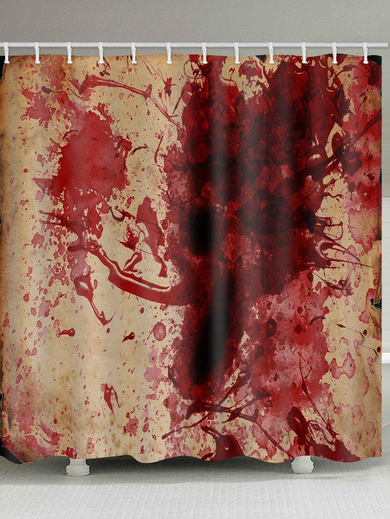 Halloween Blood Pattern Shower Curtain - multicolor W59 X L71 INCH