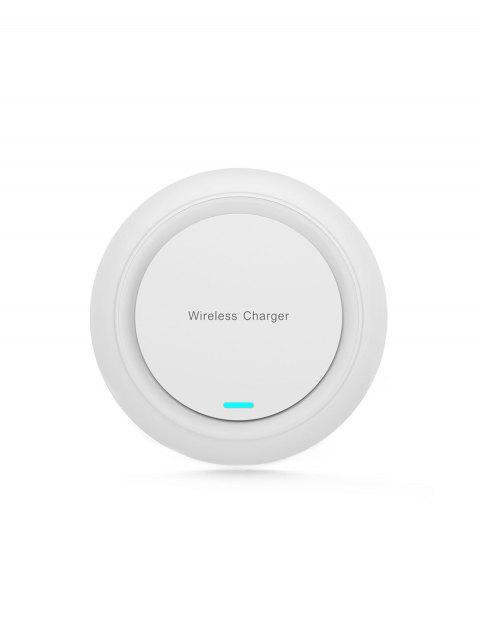 Q18 Mobile Phone Fast Charge Wireless Charging Pad - WHITE