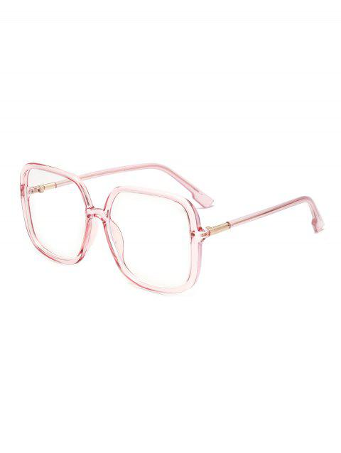 Square Shape Big Frame Outdoor Sunglasses - LIGHT PINK