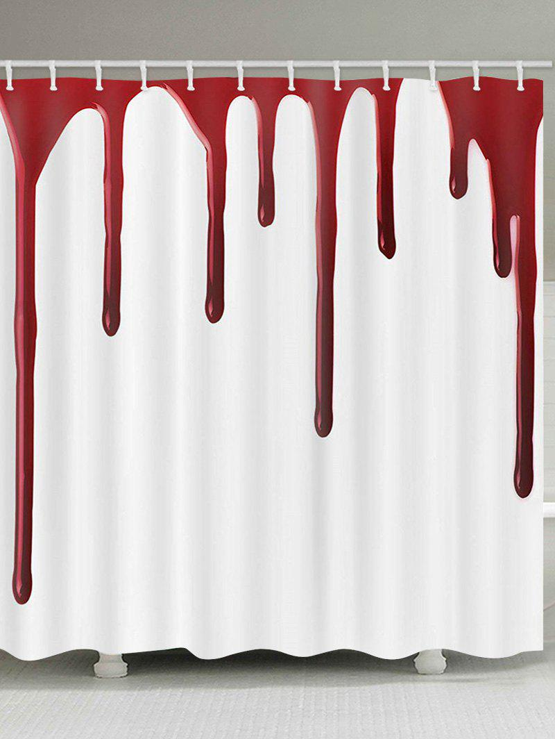 Blood Pattern Halloween Shower Curtain - multicolor W71 X L79 INCH