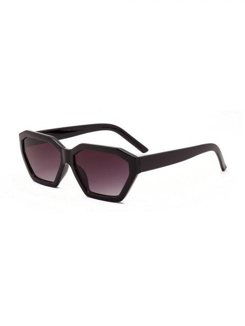 Vintage Irregular Geometric Anti UV Sunglasses - BLACK