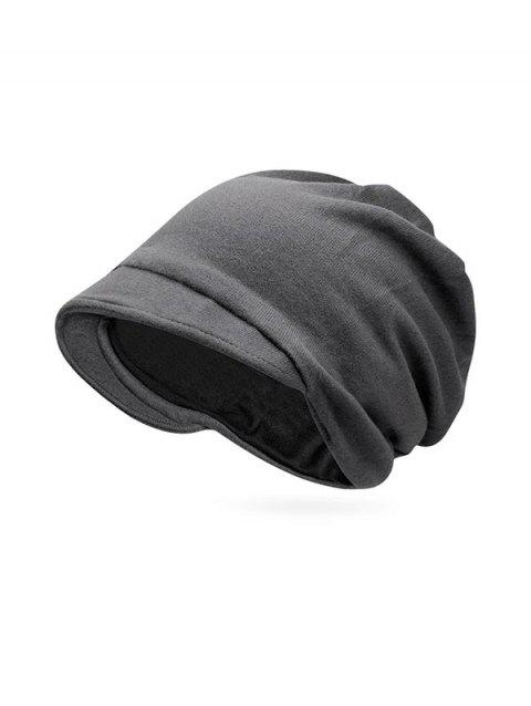 Solid Color Casual Skull Beanie - GRAY
