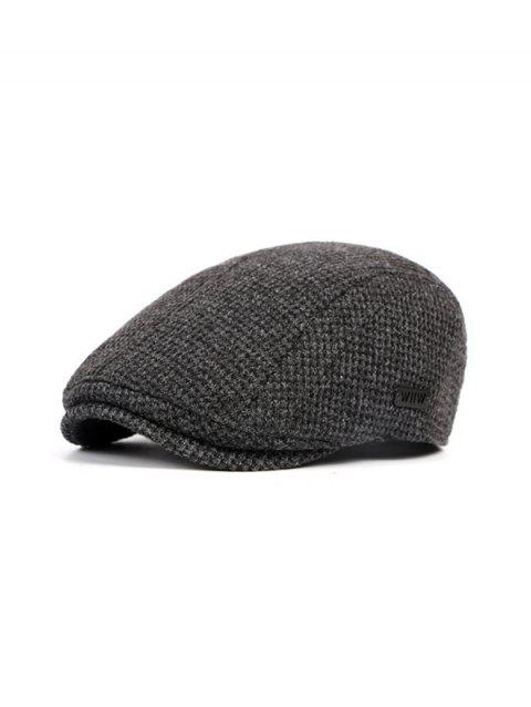 Solid Color Casual Knitted Beret - GRAY
