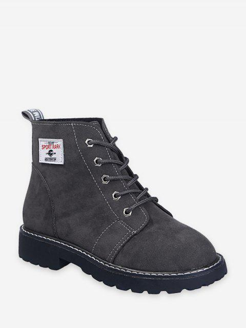 Bottines à Cheville à Lacets en Daim - Gris EU 39