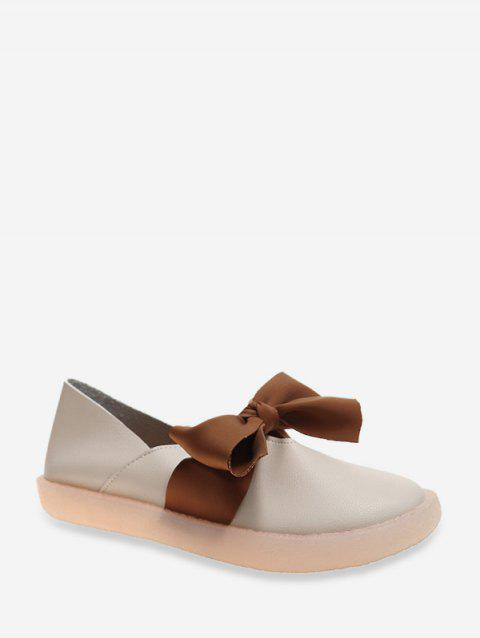 Bowknot Decoration Casual Style Shoes - WARM WHITE EU 37